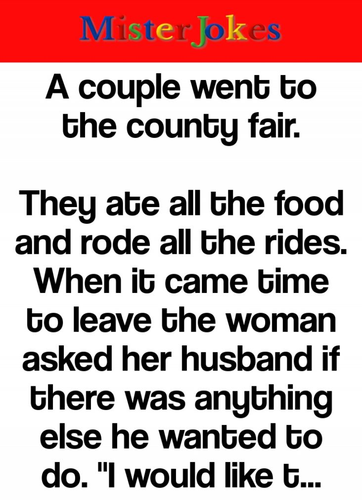 A couple went to the county fair.