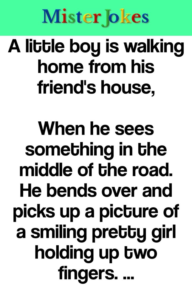 A little boy is walking home from his friend's house,