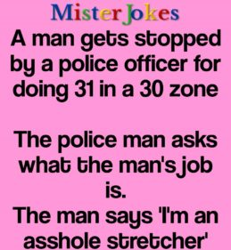 A man gets stopped by a police officer for doing 31 in a 30 zone