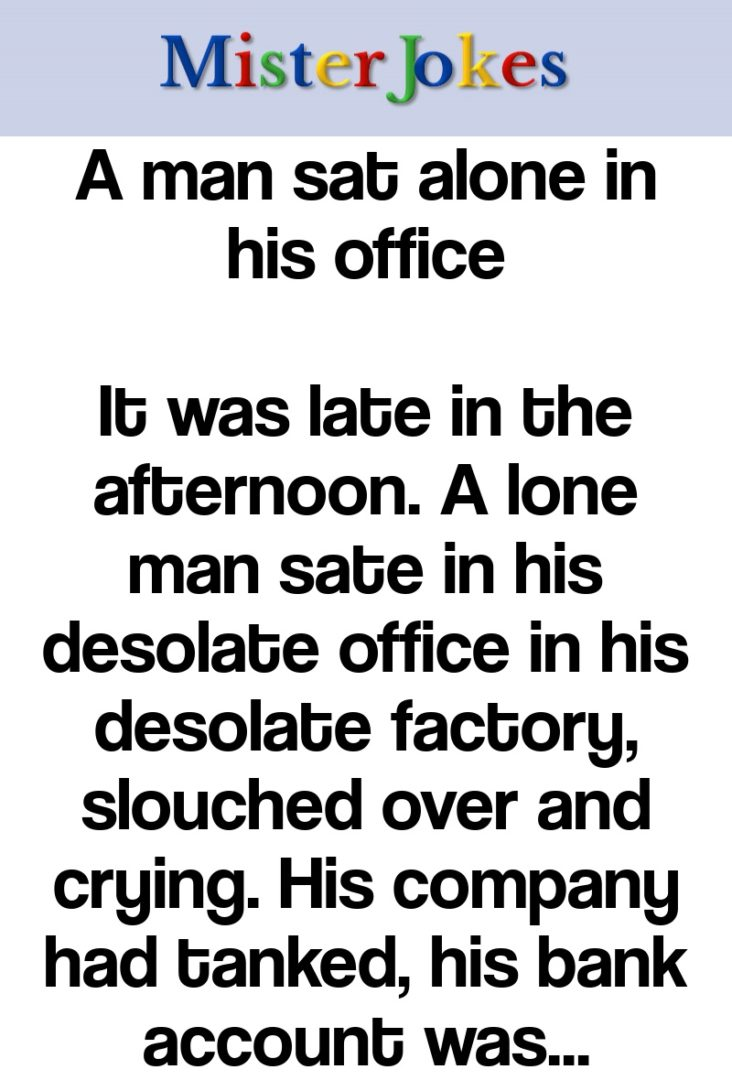 A man sat alone in his office