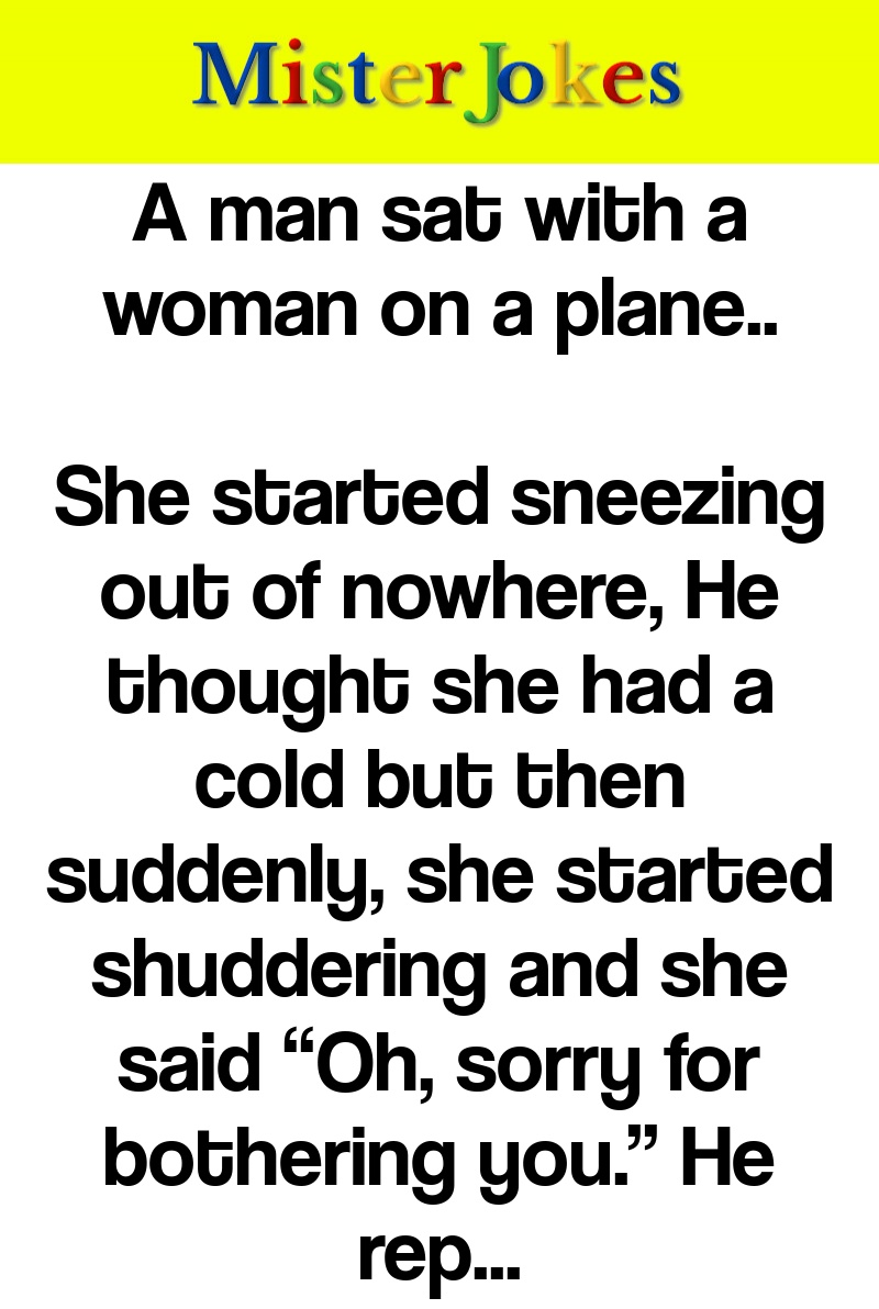 A man sat with a woman on a plane..