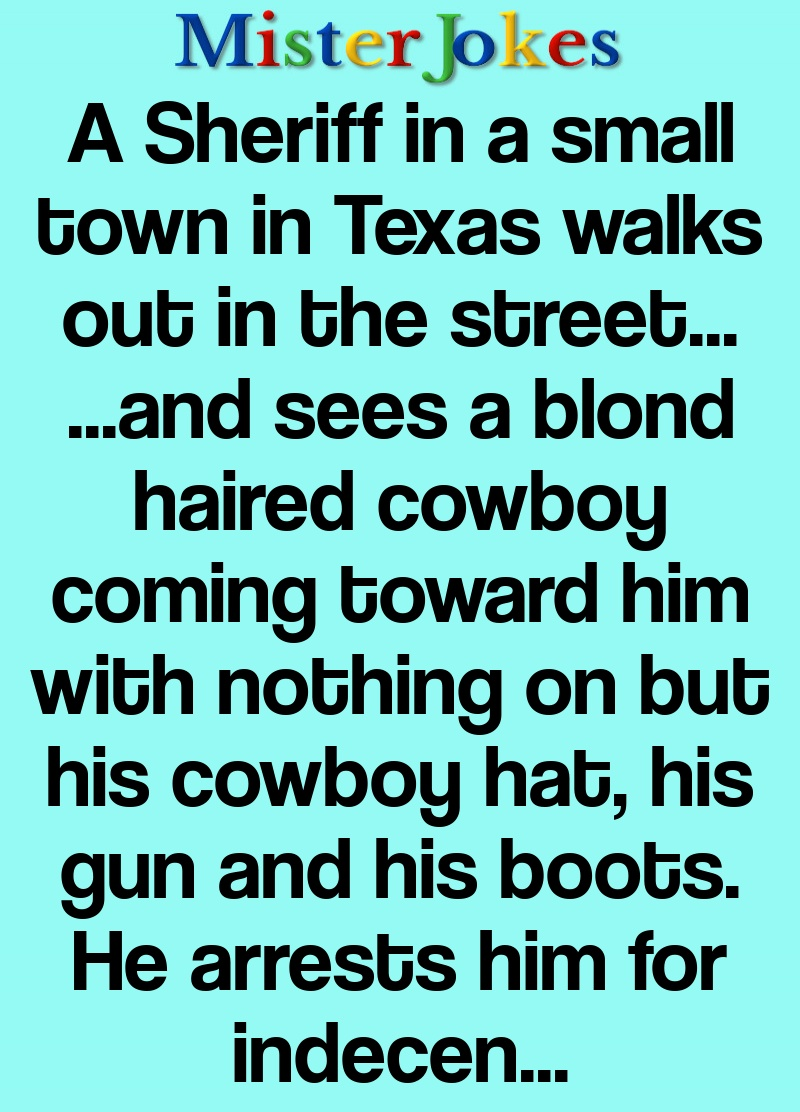 A Sheriff in a small town in Texas walks out in the street…