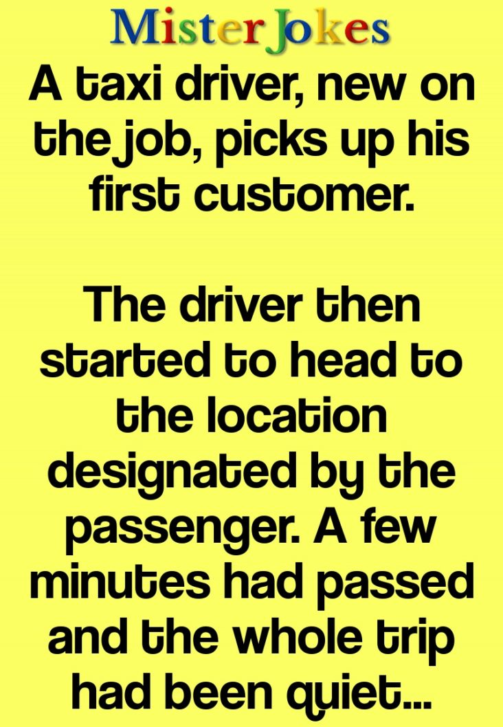 A taxi driver, new on the job, picks up his first customer.