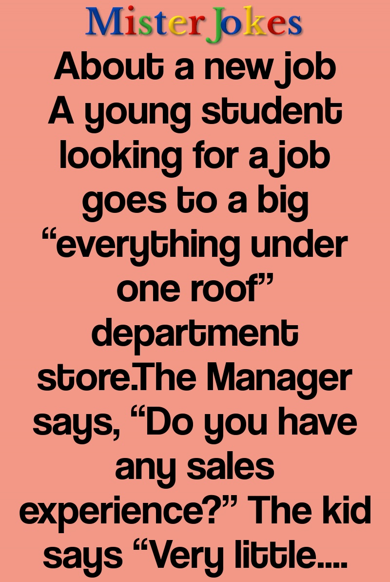 About a new job