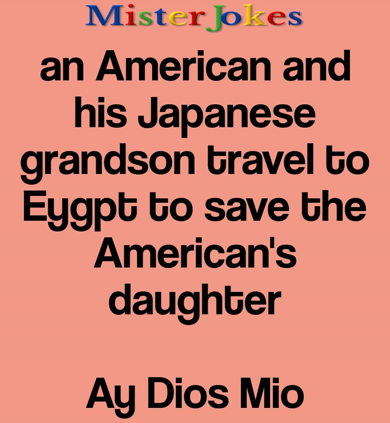 an American and his Japanese grandson travel to Eygpt to save the American's daughter