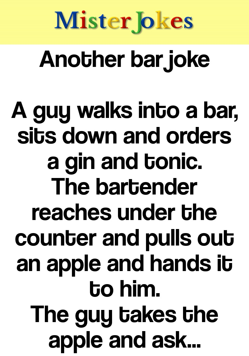 Another bar joke