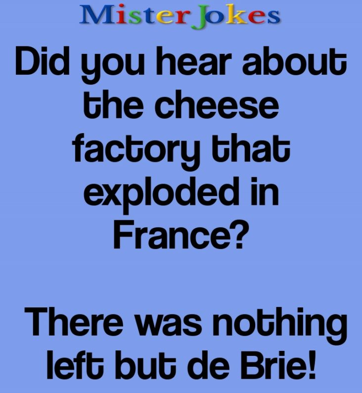 Did you hear about the cheese factory that exploded in France?