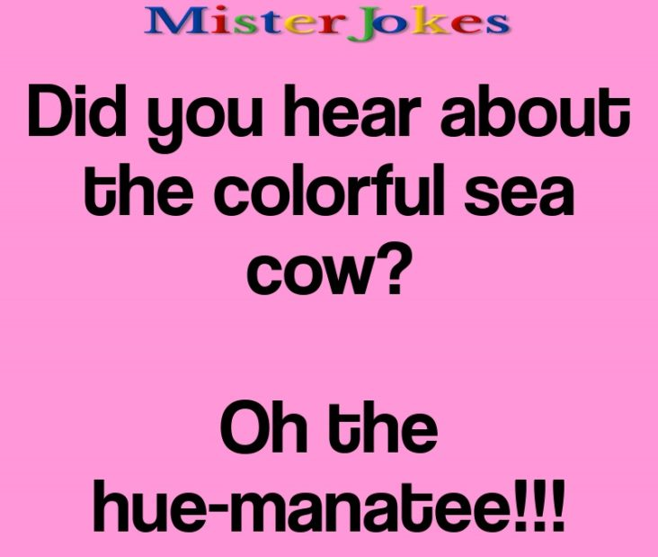 Did you hear about the colorful sea cow?