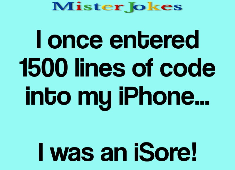 I once entered 1500 lines of code into my iPhone…