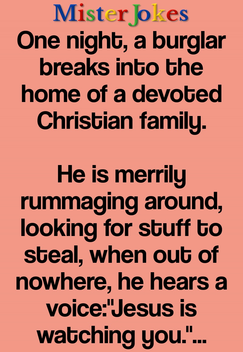 One night, a burglar breaks into the home of a devoted Christian family.