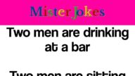 Two men are drinking at a bar