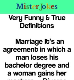 Very Funny & True Definitions