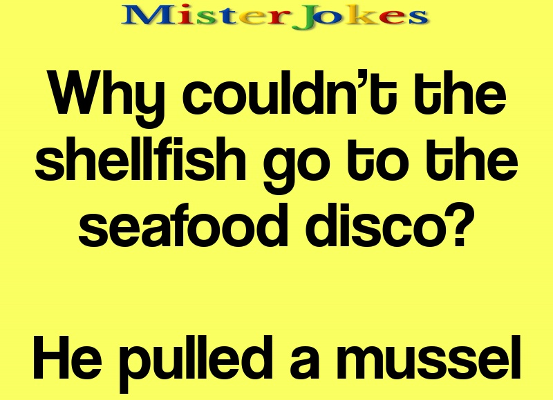 Why couldn't the shellfish go to the seafood disco?