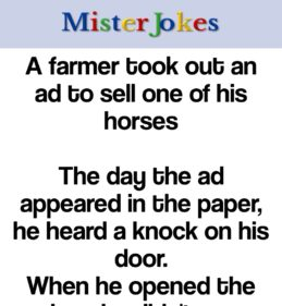A farmer took out an ad to sell one of his horses