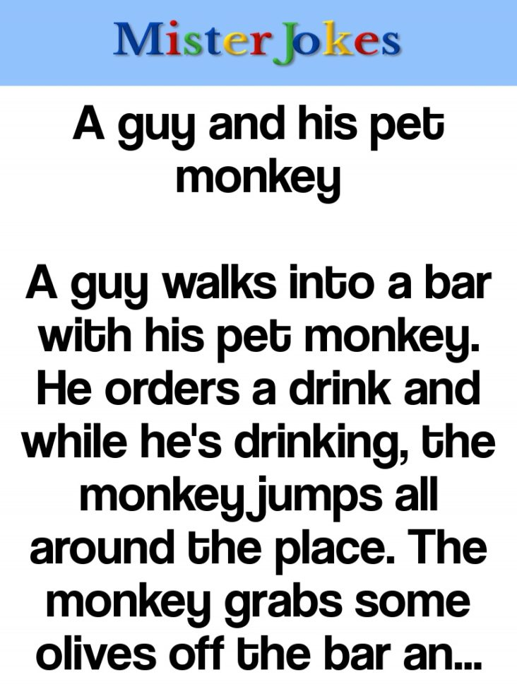 A guy and his pet monkey