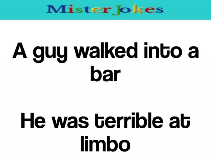 A guy walked into a bar