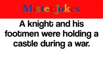 A knight and his footmen were holding a castle during a war.