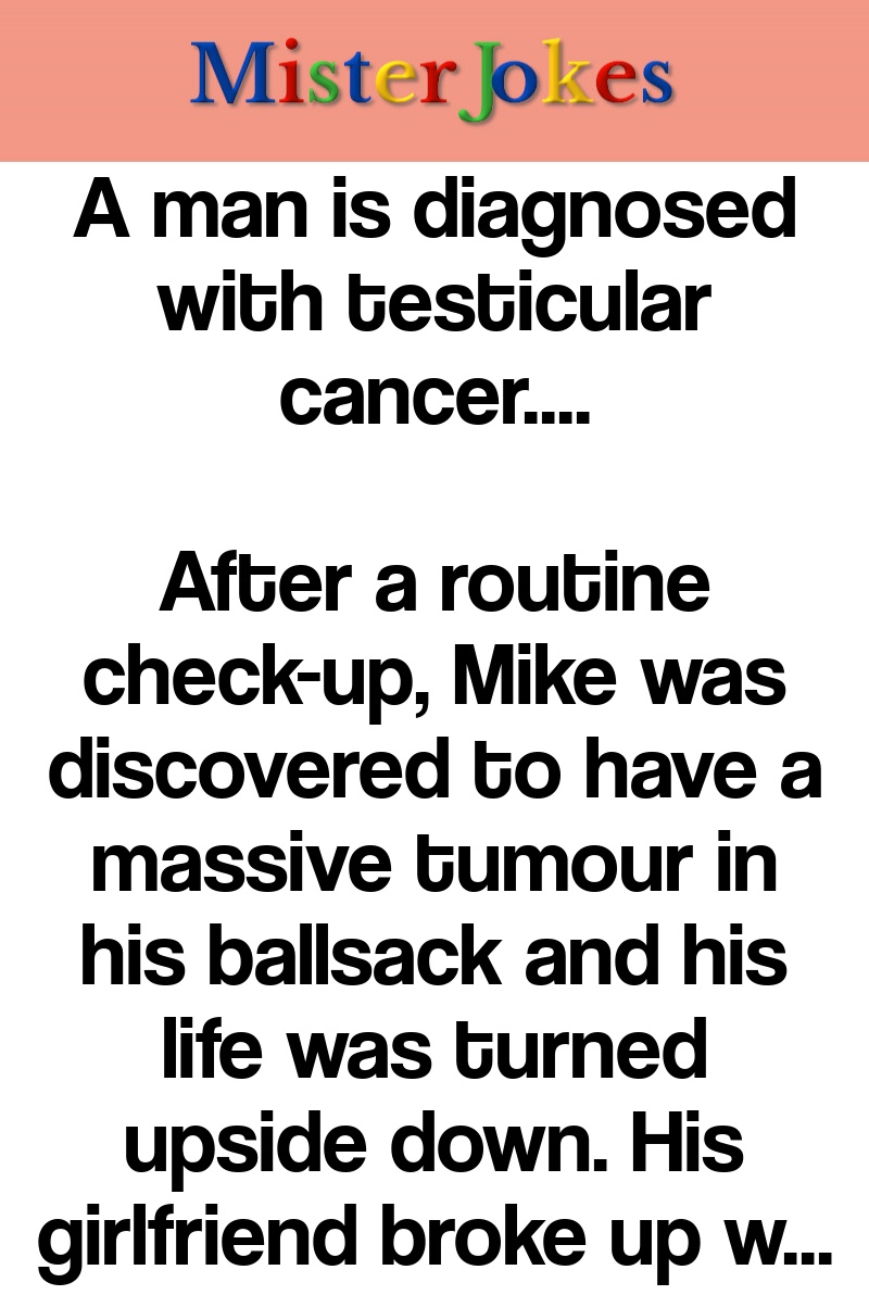 A man is diagnosed with testicular cancer….