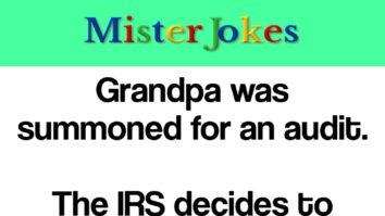 Grandpa was summoned for an audit.