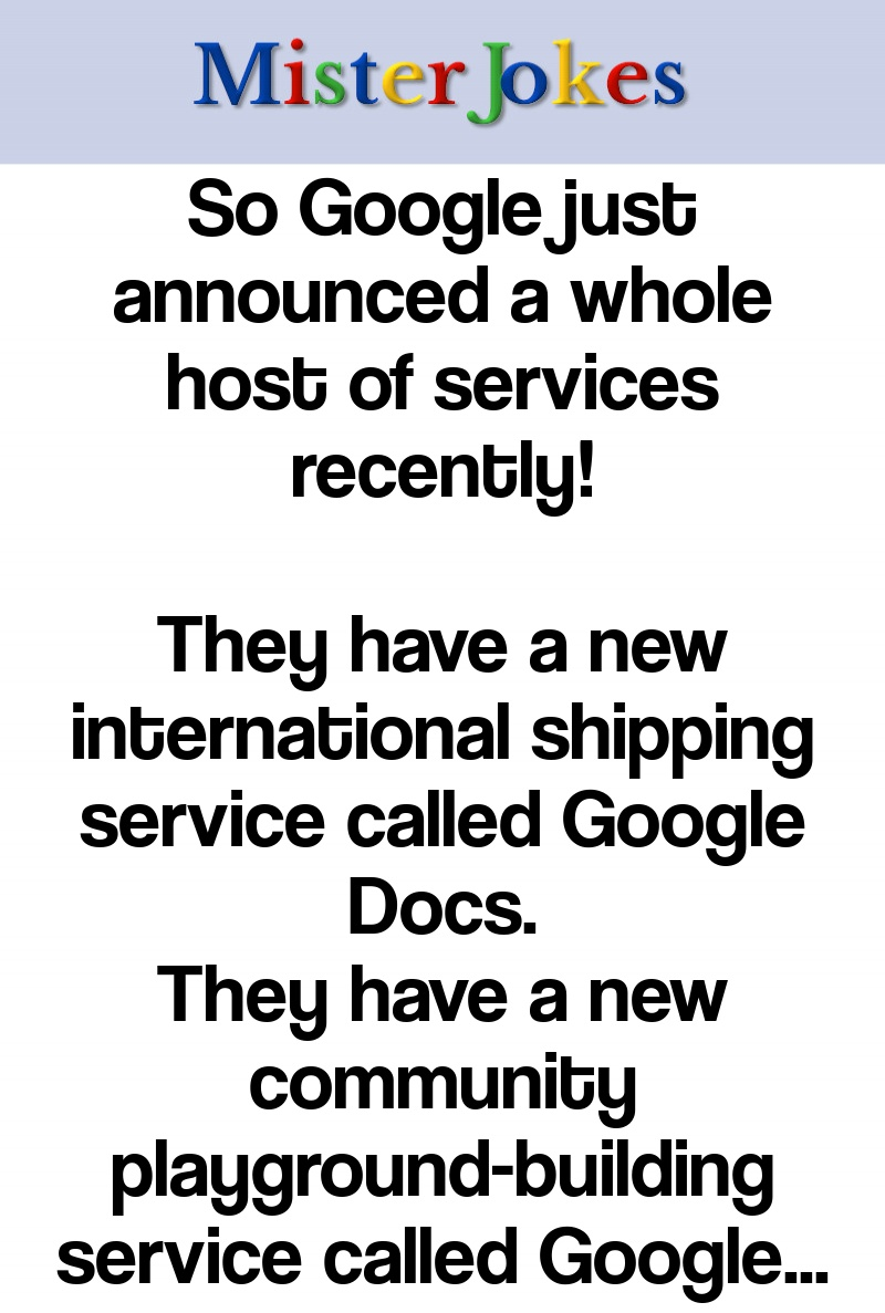 So Google just announced a whole host of services recently!