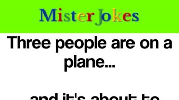 Three people are on a plane…