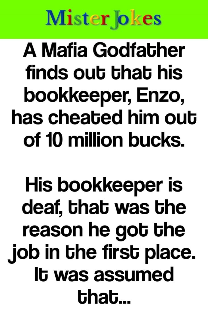 A Mafia Godfather finds out that his bookkeeper, Enzo, has cheated him out of 10 million bucks.
