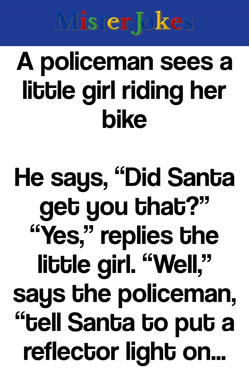 A policeman sees a little girl riding her bike
