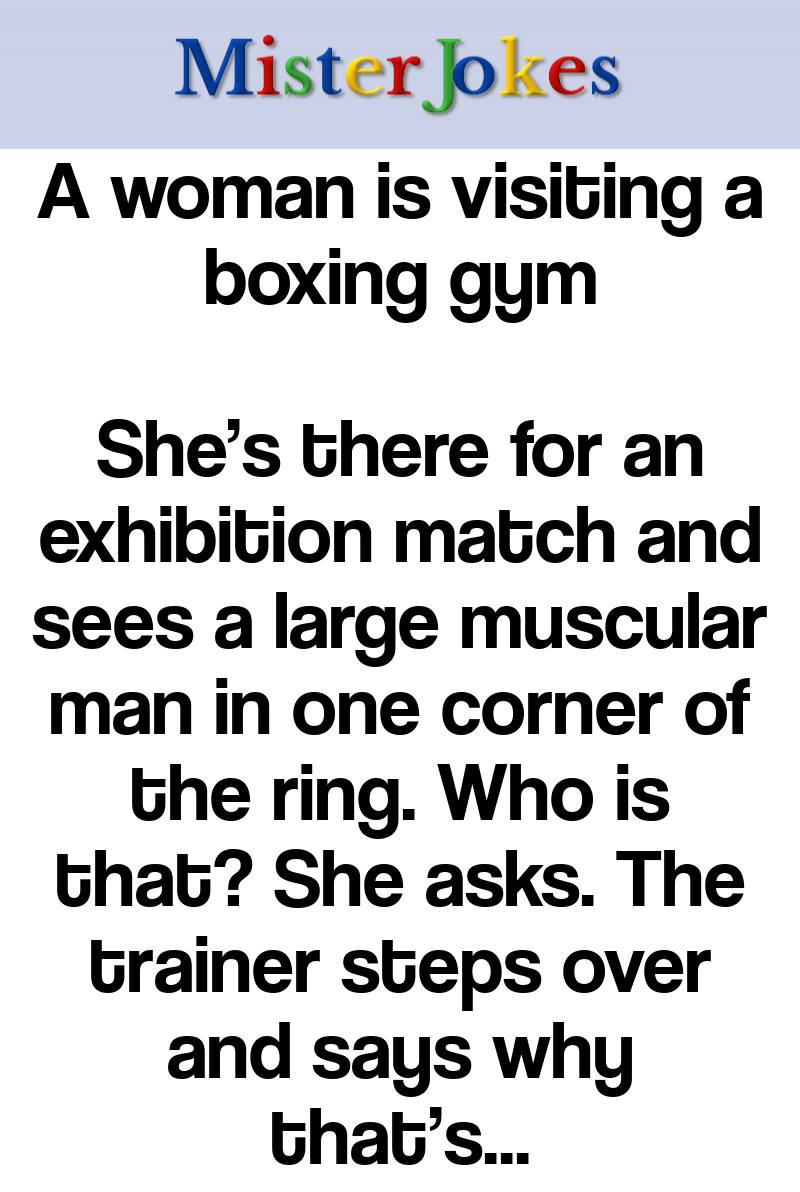 A woman is visiting a boxing gym