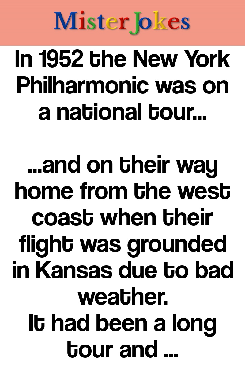In 1952 the New York Philharmonic was on a national tour…