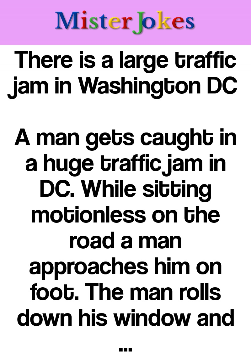 There is a large traffic jam in Washington DC