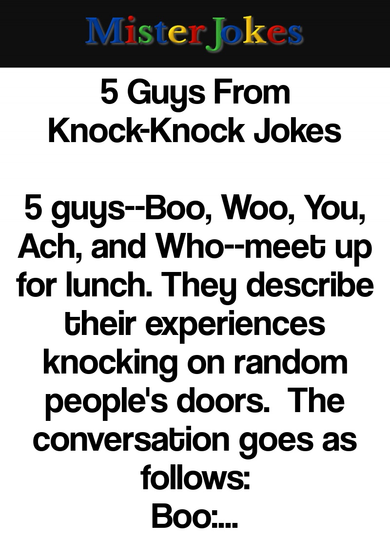 5 Guys From Knock-Knock Jokes