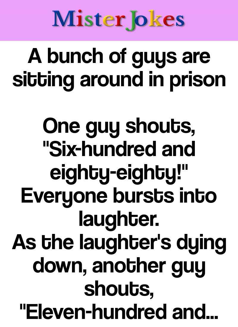 A bunch of guys are sitting around in prison