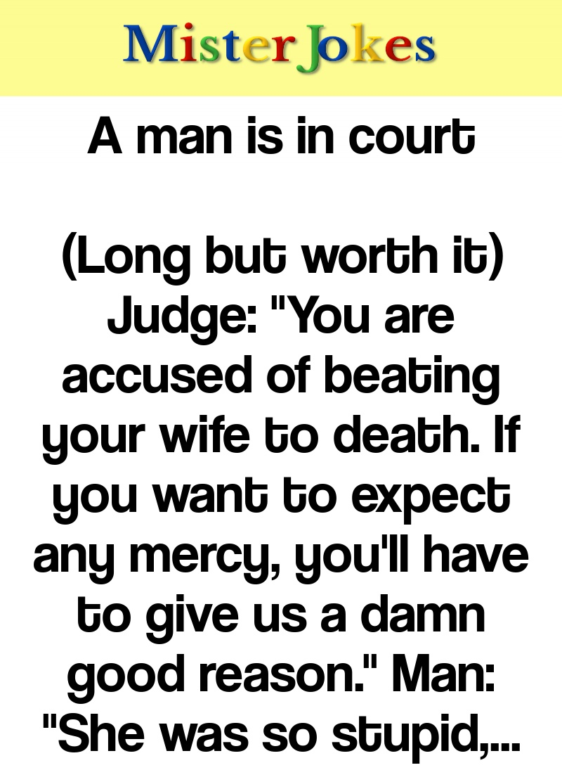 A man is in court