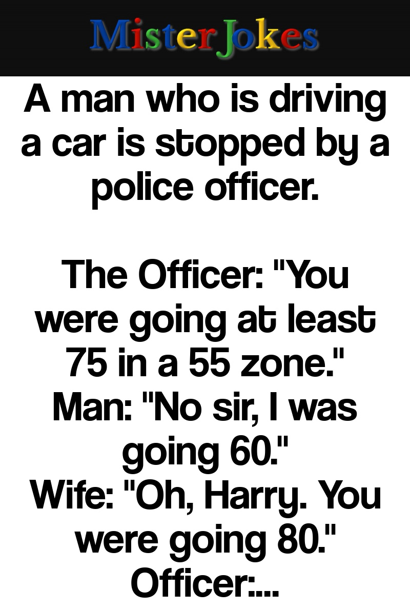 A man who is driving a car is stopped by a police officer.