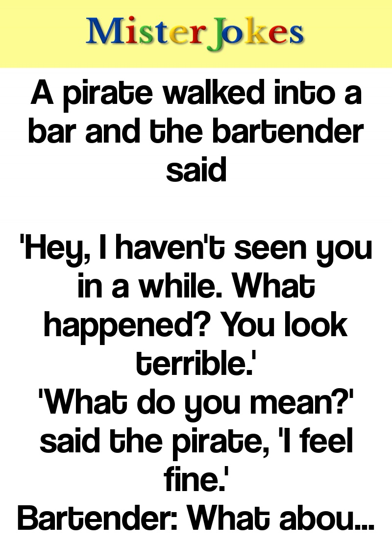 A pirate walked into a bar and the bartender said