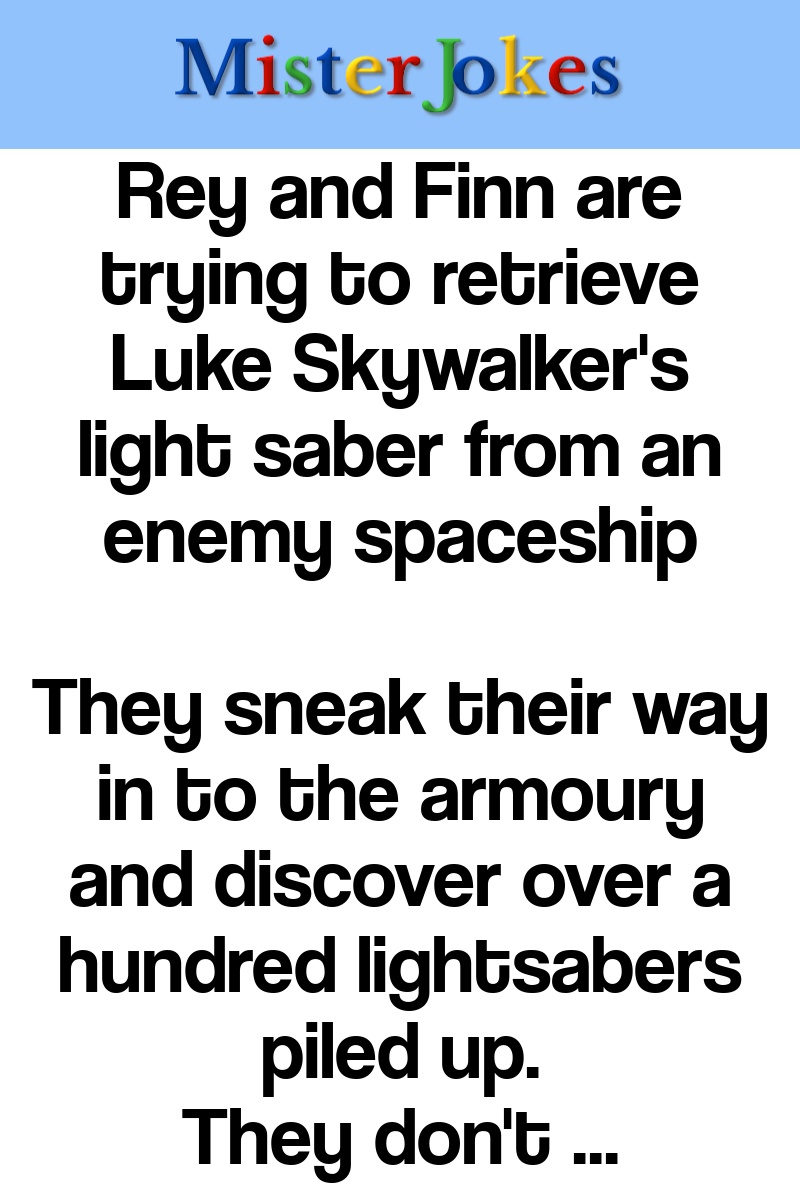 Rey and Finn are trying to retrieve Luke Skywalker's light saber from an enemy spaceship