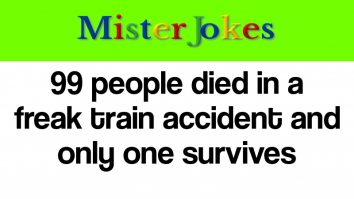 99 people died in a freak train accident and only one survives