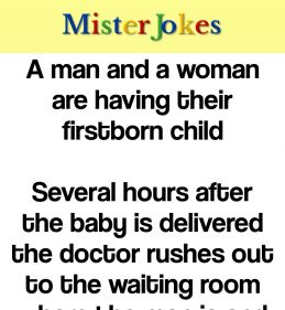 A man and a woman are having their firstborn child