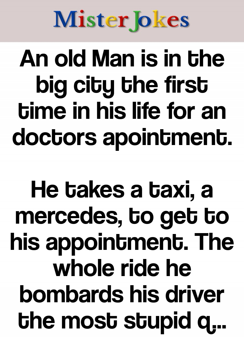 An old Man is in the big city the first time in his life for an doctors apointment.
